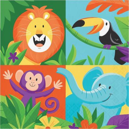 Jungle Safari Paper Napkins - 16PC-339767