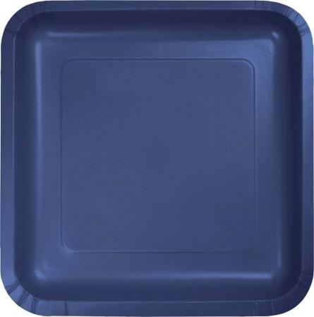 Navy Blue Square Paper Plates 9 - 8PC-463278