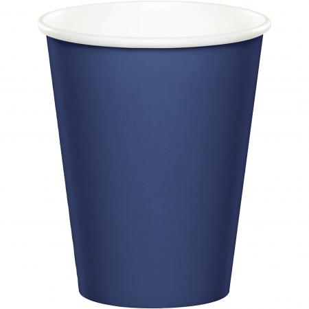 Navy Blue Paper Cups 270ML - 24PC-561137B