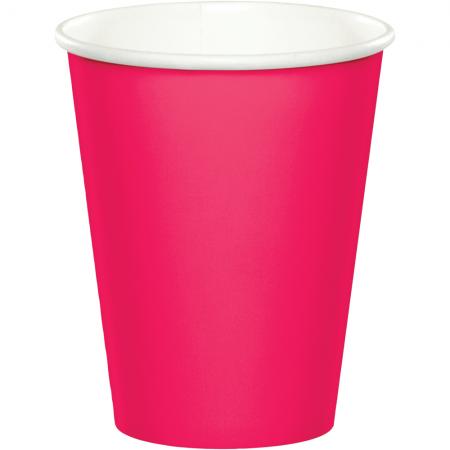Hot Magenta Paper Cups 270ML - 24PC-56177B