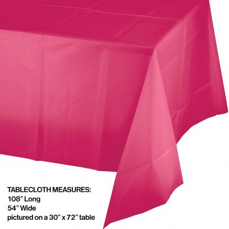 Hot Magenta Pls. Tablecover 54x108-01413B_size