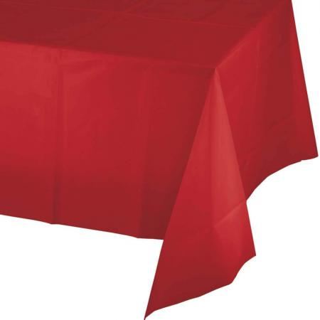 Classic Red Pls. Tablecover 54x108-011031B