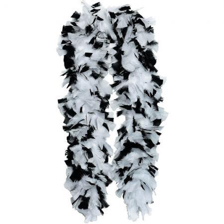 white_black_feather_boa