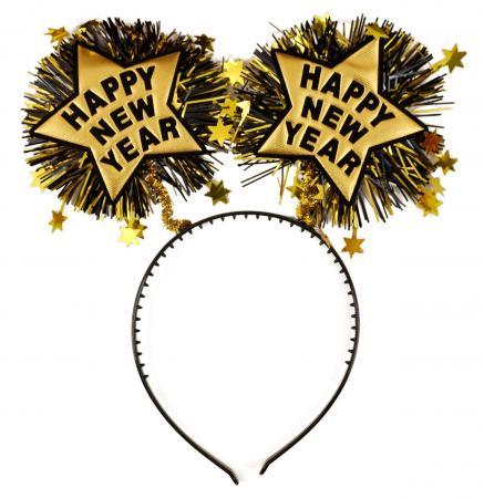 Happy New Year Headband Gold_702358