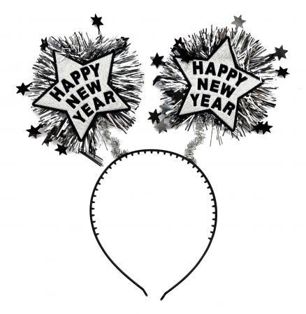 Happy New Year Headband Silver_702359