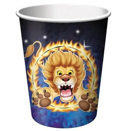 Big Top Birthday 9oz Cups - 8CT-0