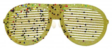 Neon Yellow Glitter Round Shaped Shades_702351