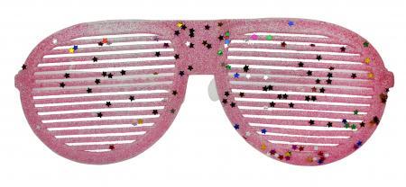 Neon Pink Glitter Round Shaped Shades_702353