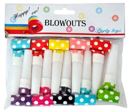 Multicolor Polka Dot Blowouts_702180