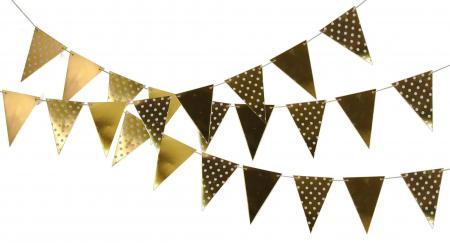Polka Dot Gold Flag Bunting_702368