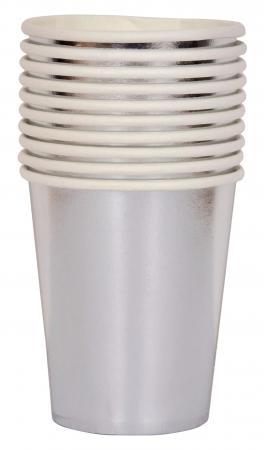 Metallic Silver Paper Cups_702216A