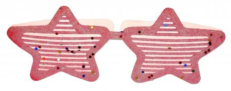 Neon Pink Glitter Star Shaped Shades_702346A