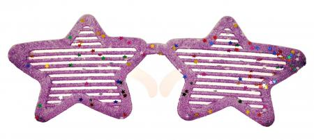 Neon Purple Glitter Star Shaped Shades_702347A