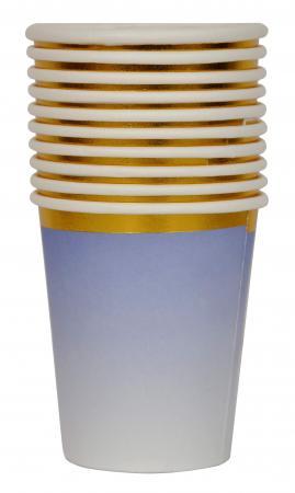 Purple Paper Cups w_Golden Rim_702479A