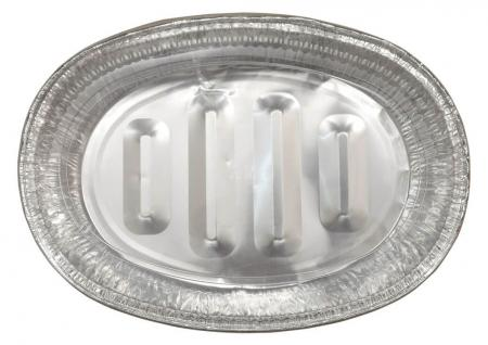 Disposable Aluminium Foil Food Containers with Lid Large Size_702494A