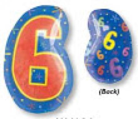 """18"""" Xl: 6 Multi-Color Balloon S60 -0"""