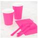Premium Plastic Hot Pink Forks - 702473a