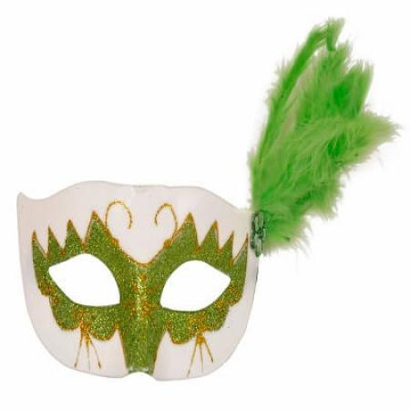 Glittery-Eye-Mask-with-Feathers-Green_702544