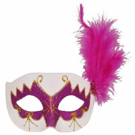Glittery-Eye-Mask-with-Feathers-Pink_702545