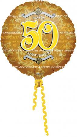 "18"" Golden Anniversary (50th) Balloons S40 -0"