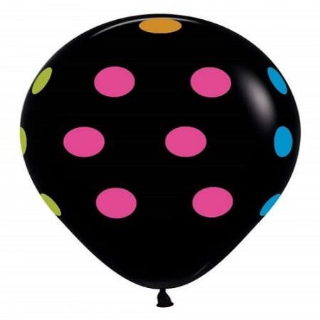 Betallatex Multi Color Polk Dot Latex Black_86713 edited