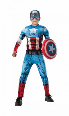 Deluxe Captain America Kids Costume-0