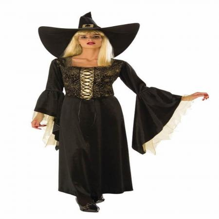 Golden Web Witch Costume Medium-0
