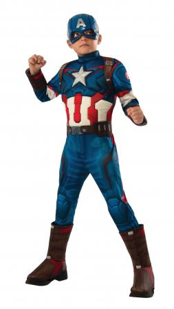 Deluxe Muscle Chest Kids Captain America Costume-0