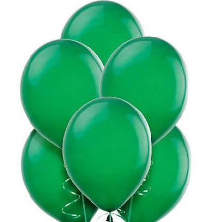 "8"" Dark Green Latex Balloons -20ct-0"