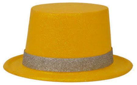 Neon Yellow Glitter Hat_702532