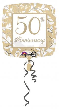 "18"" Gold Elegant 50th Anniversary S40-0"