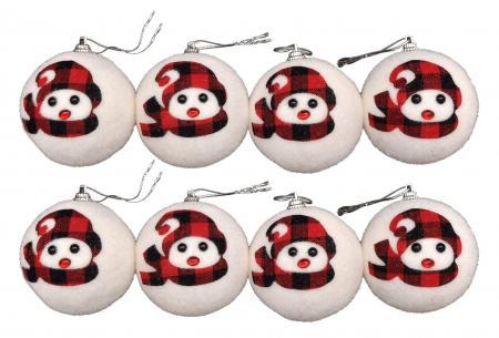 Christmas Tree Ornaments - Snowman Balls_702560A
