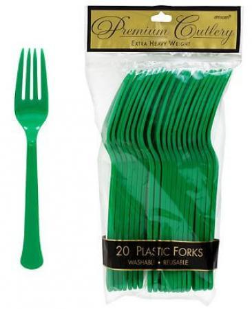 Forks Premium Plastic Tree Green - 20CT-0