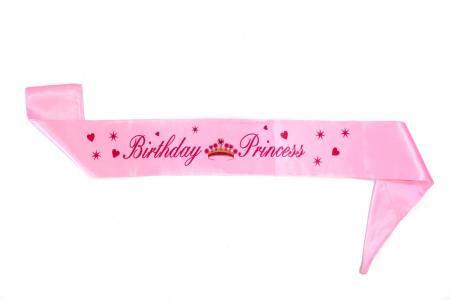 Birthday Princess Satin Sash-0