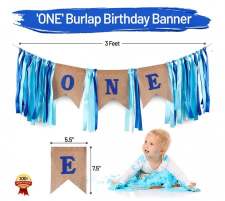 801170_ONE Burlap Banner Blue_1