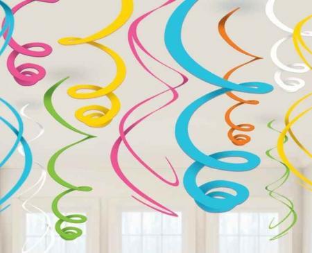 Multicolor Swirl Decoration - 10CT -0