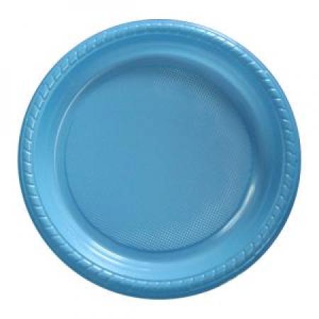 """7"""" Premium Plastic Powder Blue Plates - 20CT-0"""