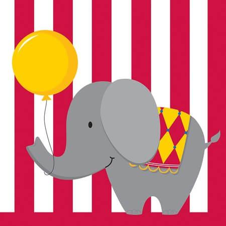 Circus Time Lunch Napkins - 16CT-0