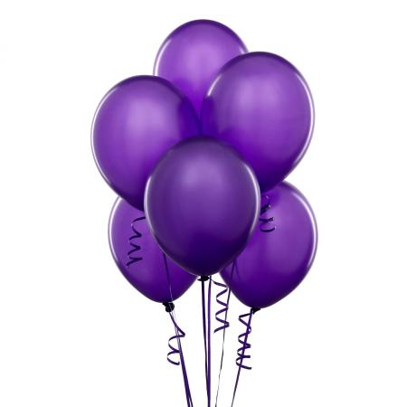 "Metallic Purple Latex Balloons 12"" - 100 CT-0"