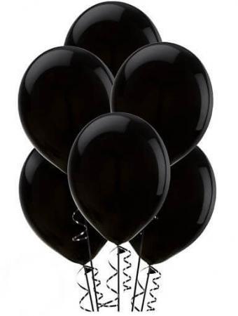 "12"" Black Latex Balloons - 100CT-0"