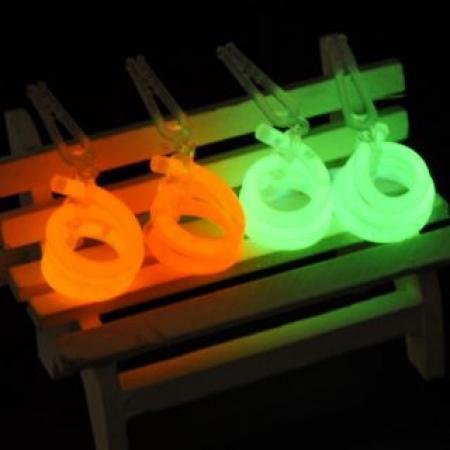 Glow in the Dark Spiral Earrings - 2PC-0