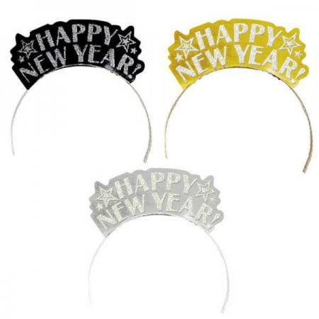 Black, Silver, Gold New Year Tiaras - 1PC-0