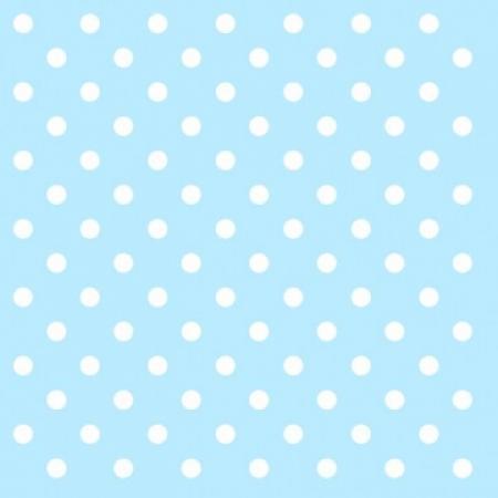Polka Dot Paper Napkins Light Blue - 20 PC-0