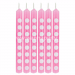 Candy Pink Dots Cake Candle - 12PC-0