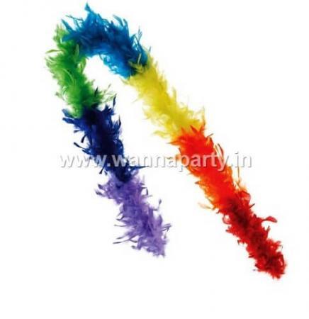 Multi Color Feather Boa-0