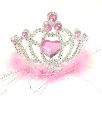 Pink Tiara Heart with Marabou-0