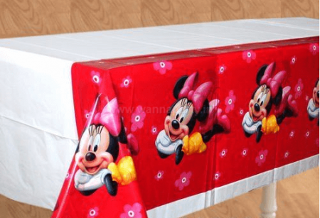 """Minnie Mouse Table Cover -52""""in X 86""""in-0"""