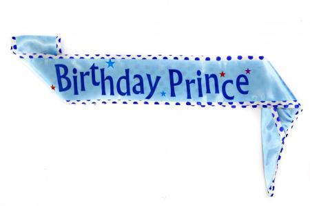 Birthday Prince Kids Sash-0