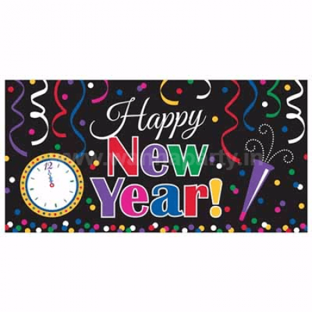 Happy New Year Banner – 5.5 FT-0