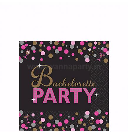Bachelorette Night Beverage Napkins - 16PC-0